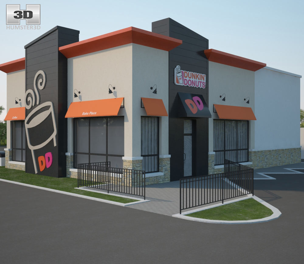 Dunkin' Donuts Restaurant 02 3d model