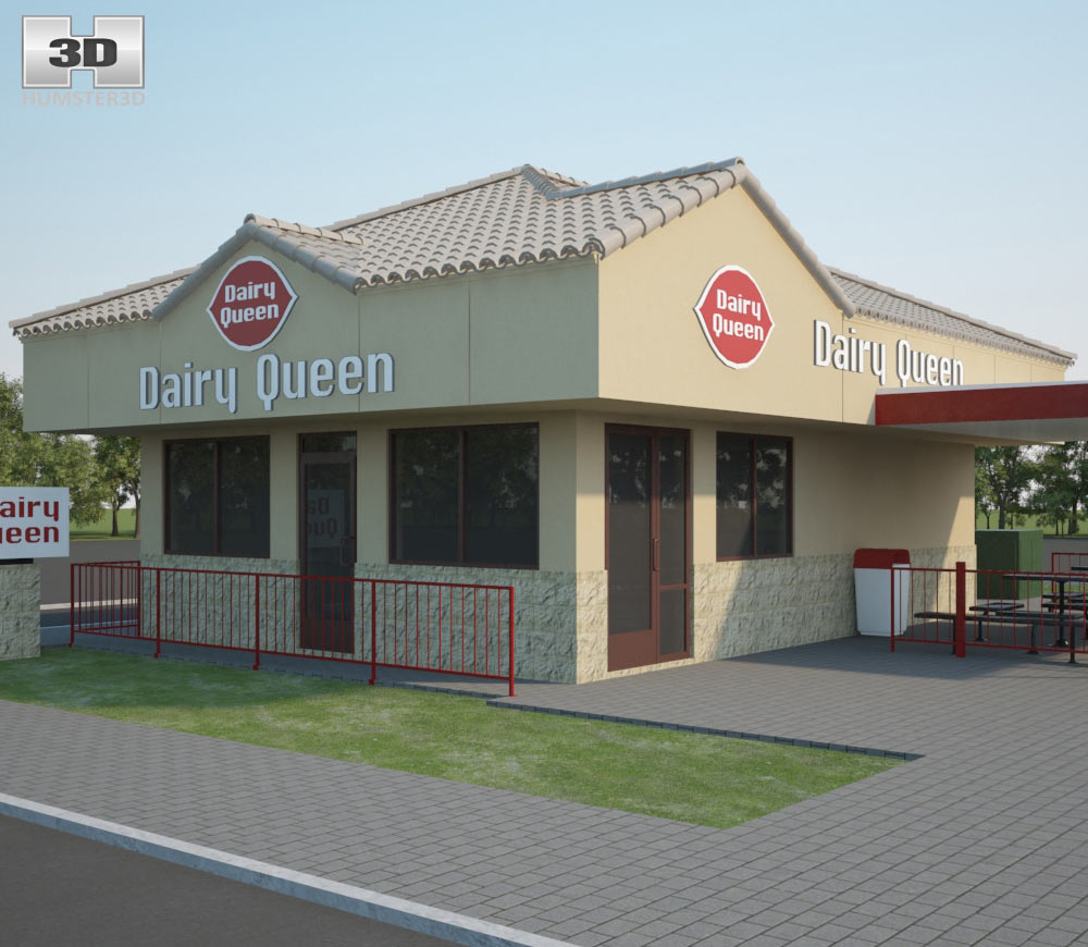 Dairy Queen Restaurant 01 3d model