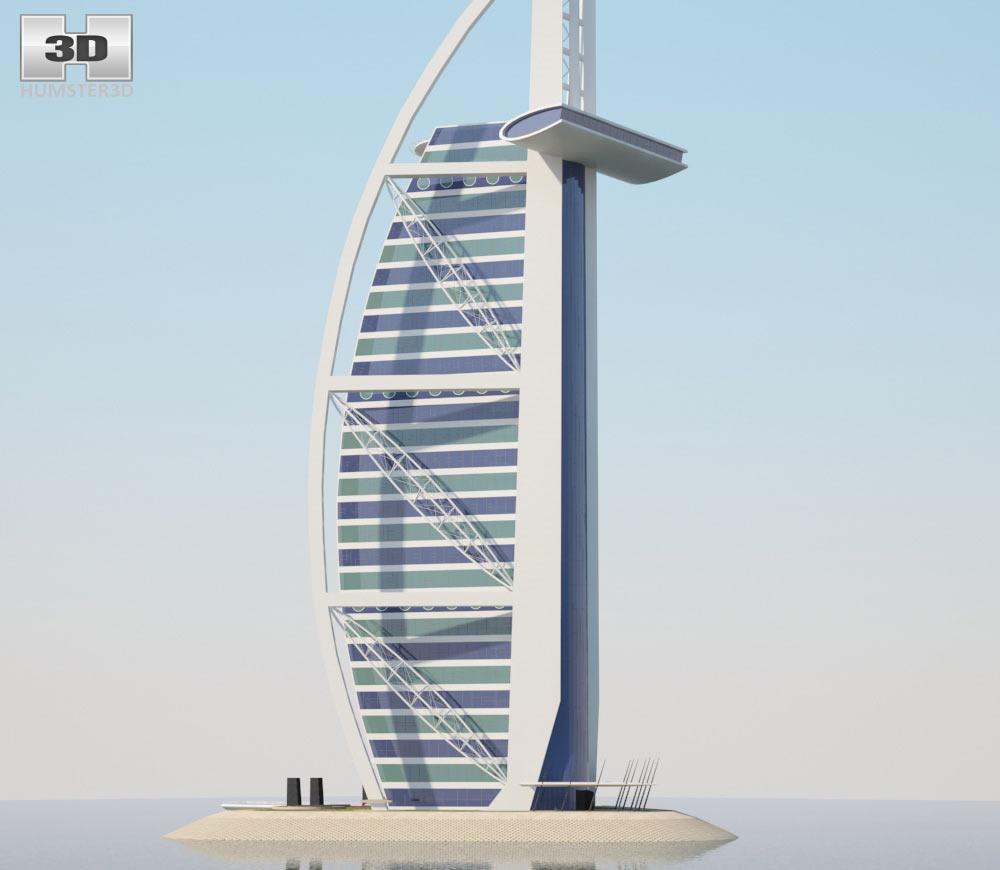 Burj al arab 3d model hum3d Burj al arab architecture