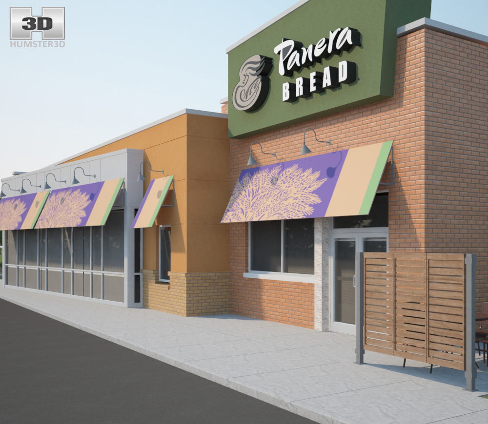 Panera Bread Restaurant 03 3d model