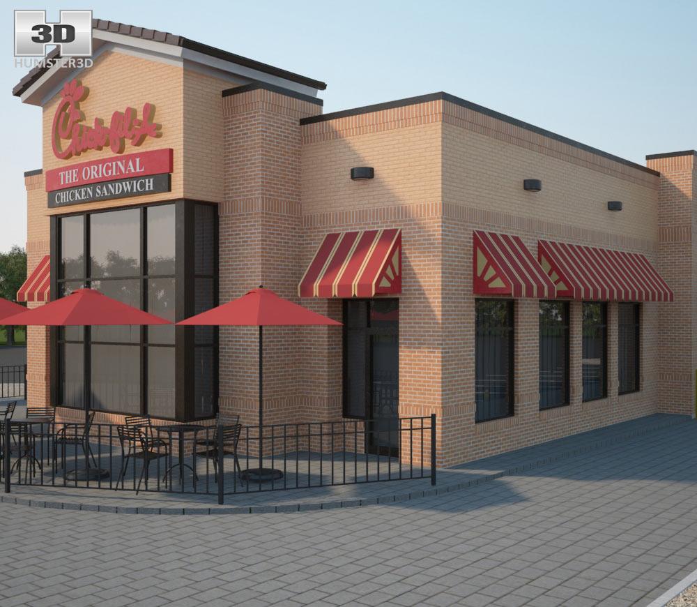 Chick-fil-A Restaurant 02 3d model