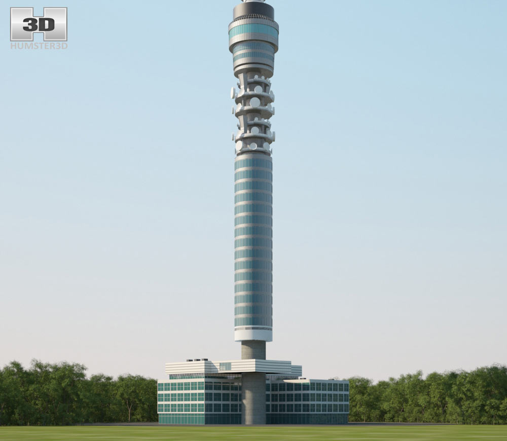 BT Tower 3d model