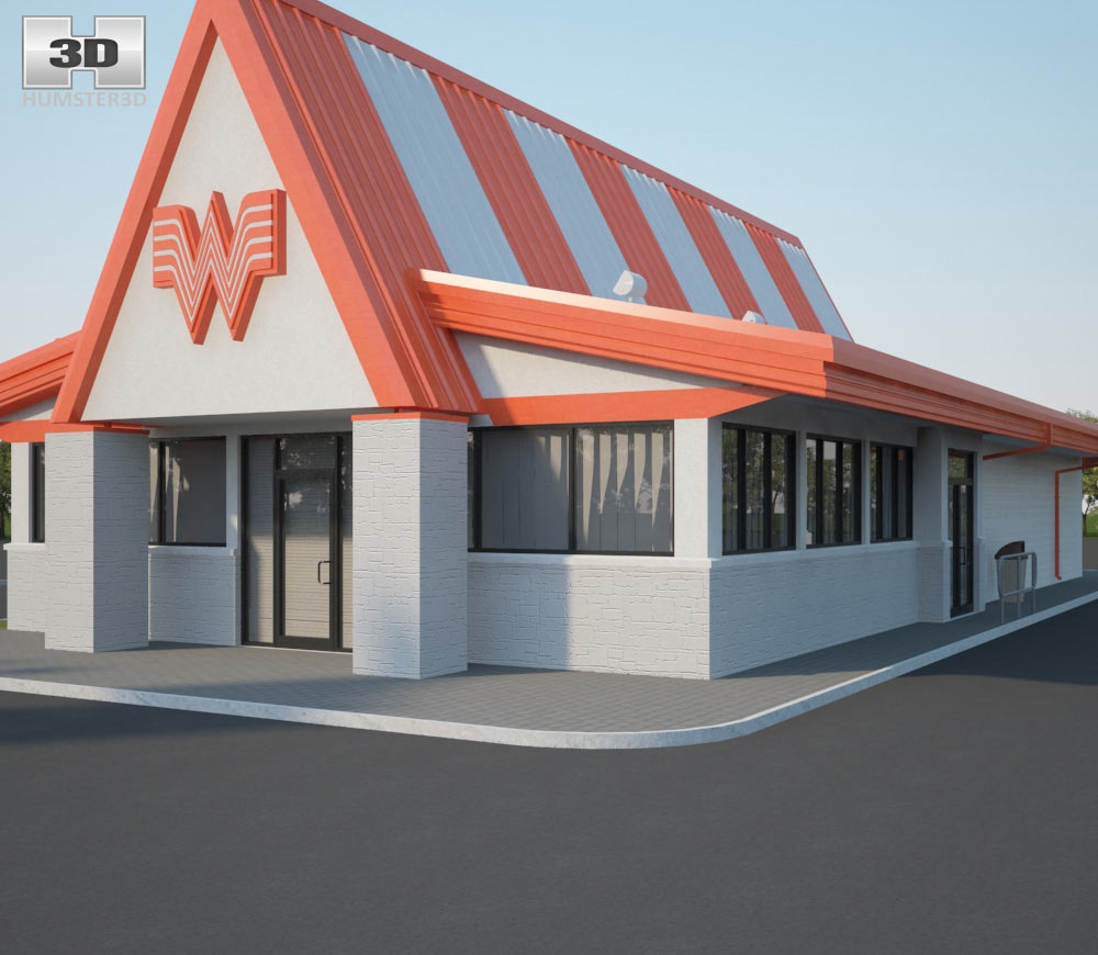 Whataburger Restaurant 01 3d model