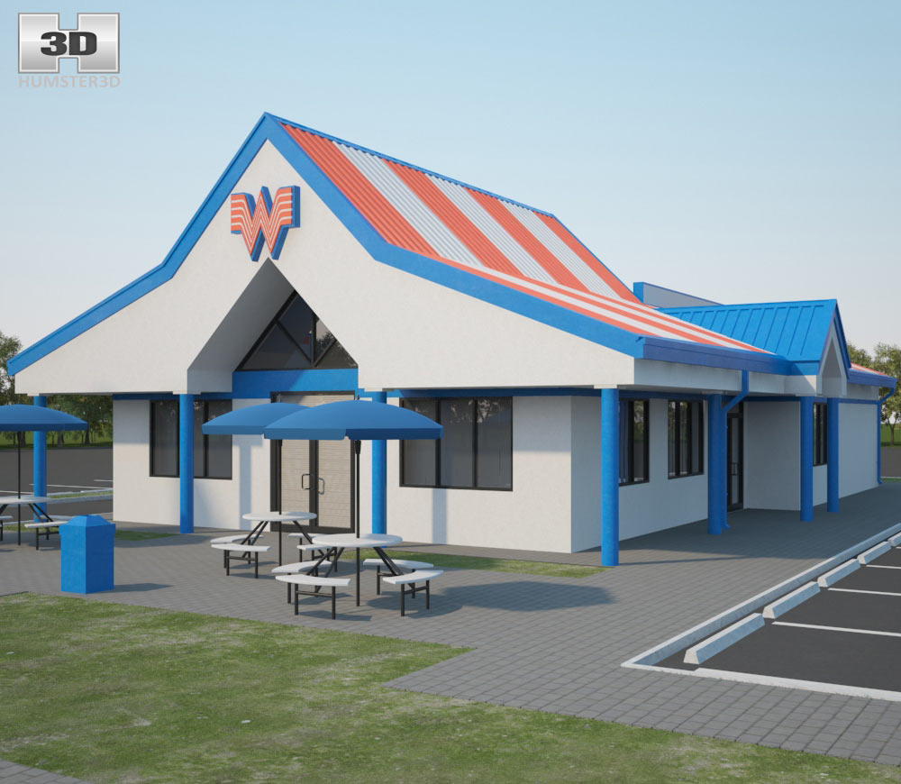 Whataburger Restaurant 02 3d model