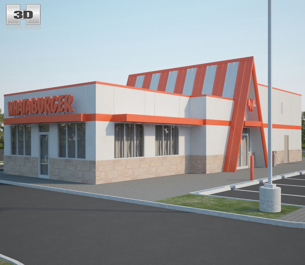 Whataburger Restaurant 03 3d model