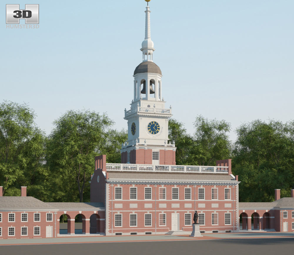 Independence Hall 3d model