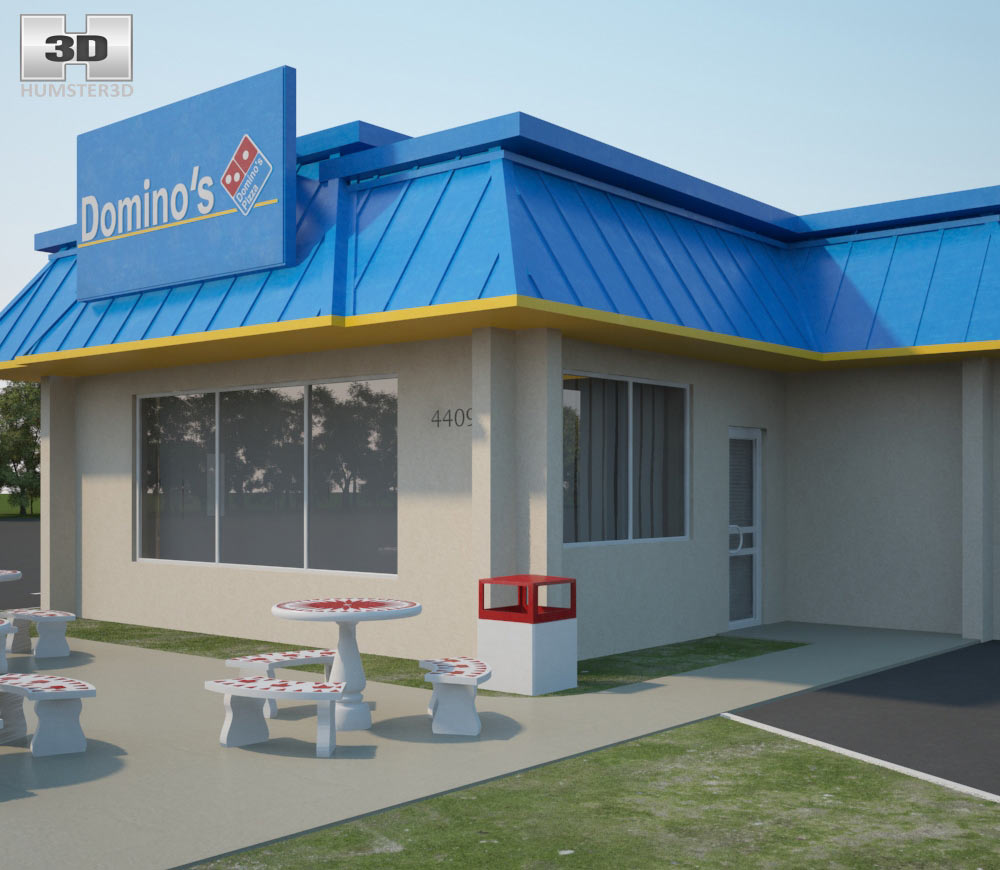 Domino's Pizza Restaurant 03 3d model