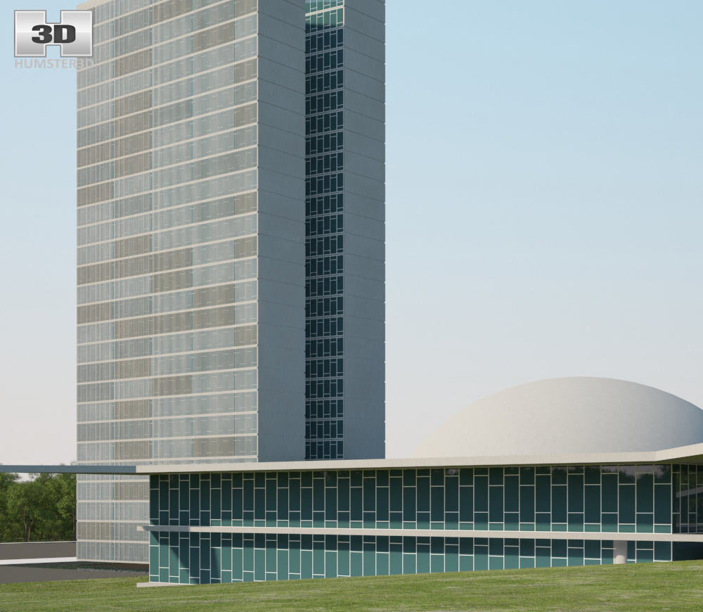National Congress of Brazil 3d model