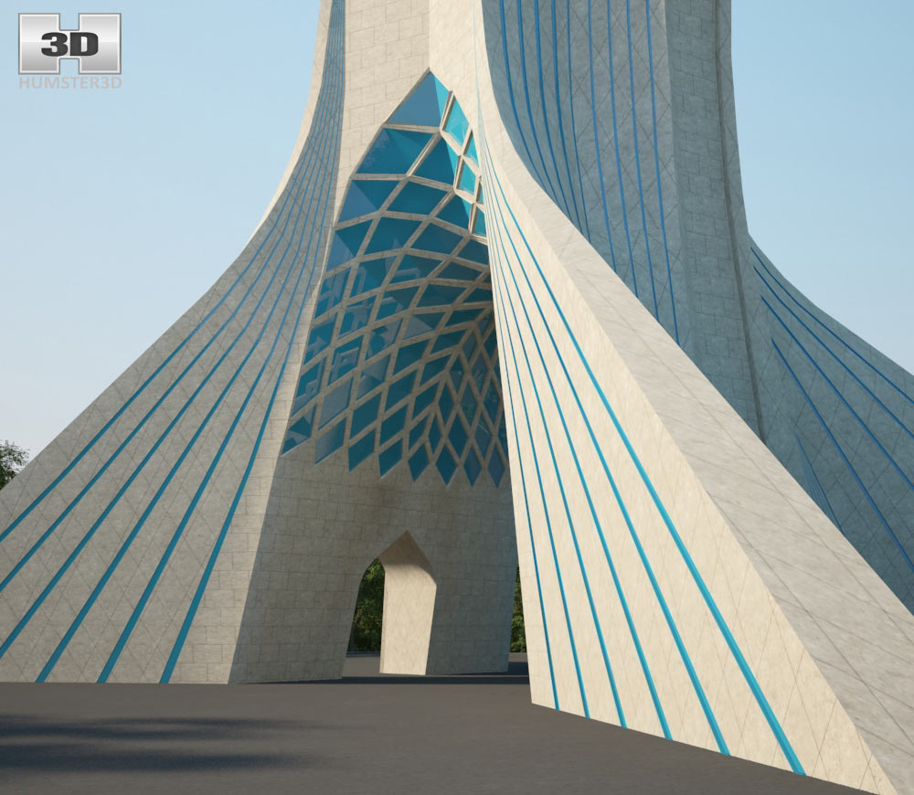 Azadi Tower 3d model