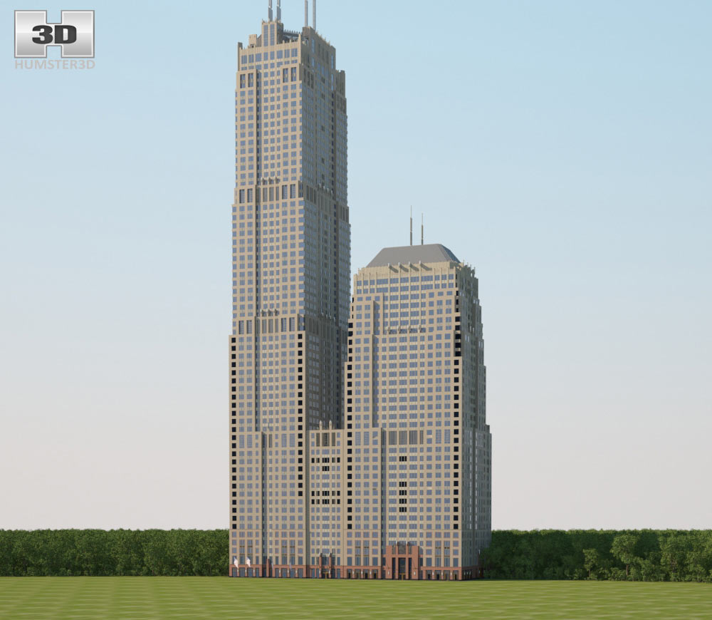 Franklin Center 3d model
