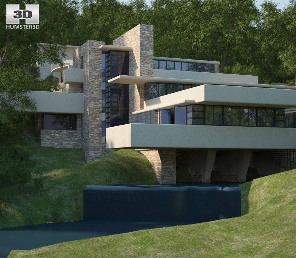 Fallingwater 3d model