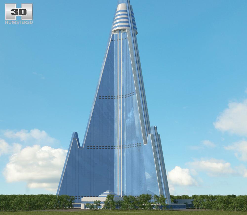 Ryugyong Hotel 3d model