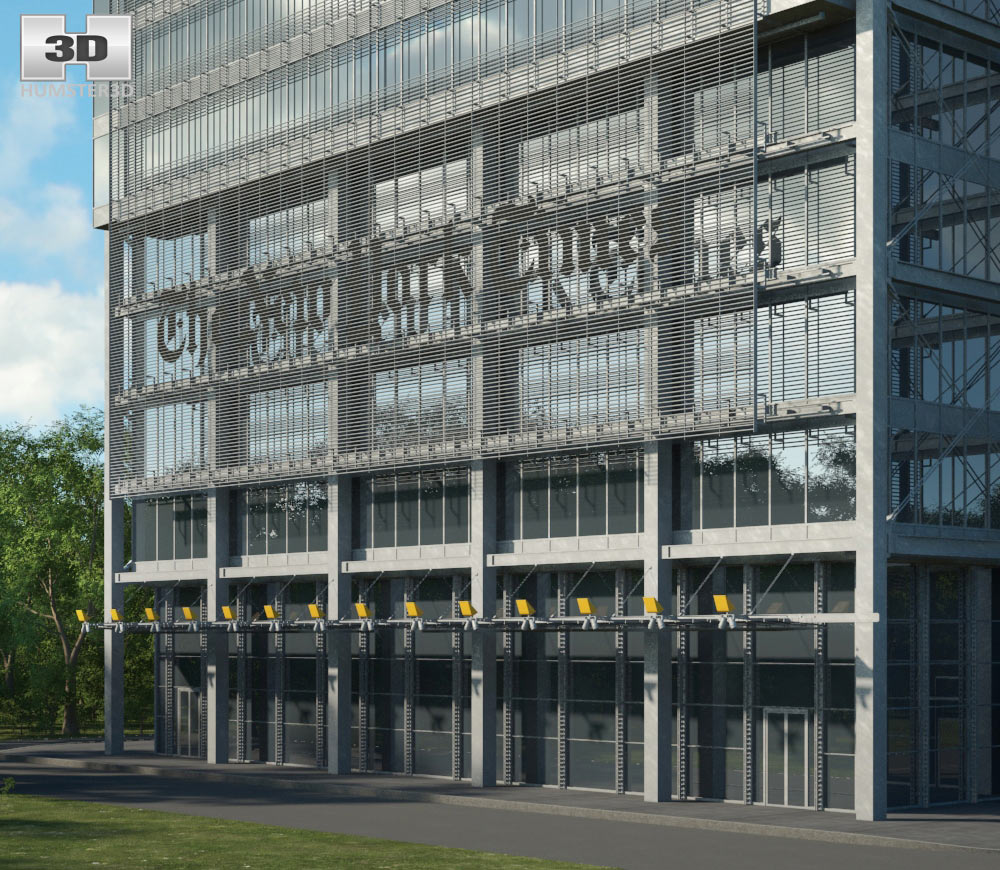 The new york times building 3d model hum3d for Model house nyc