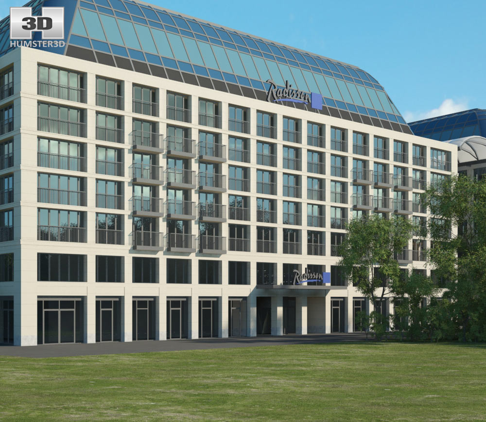 Radisson Blu Hotel Berlin 3d model
