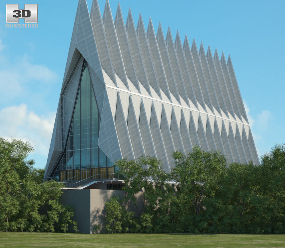 United States Air Force Academy Cadet Chapel 3d model