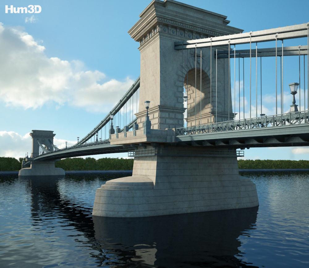 Chain Bridge (Budapest) 3d model