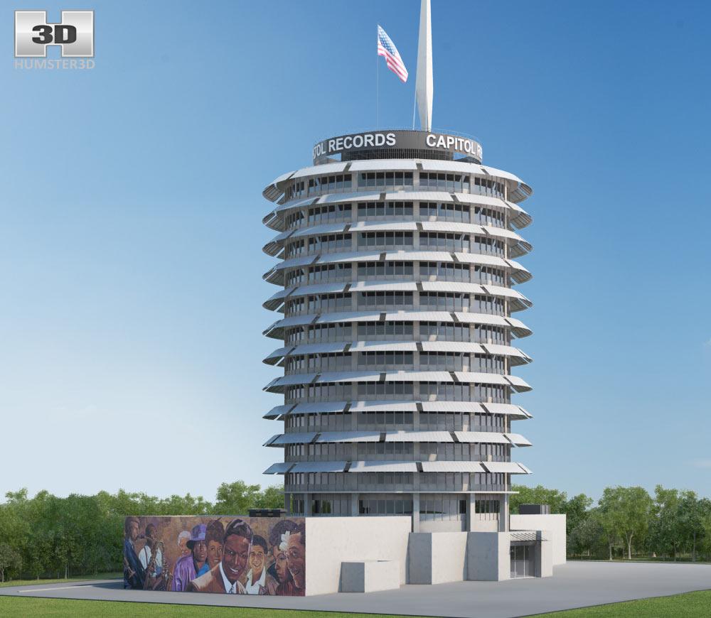 Capitol Records Building 3d model