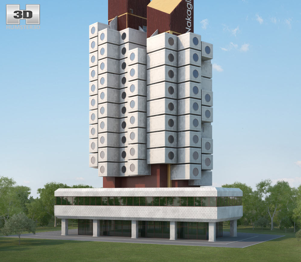 Nakagin Capsule Tower 3d model