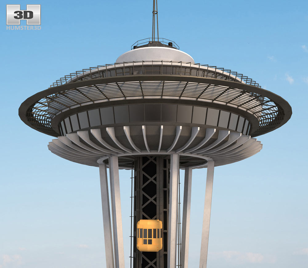 Space Needle 3d model