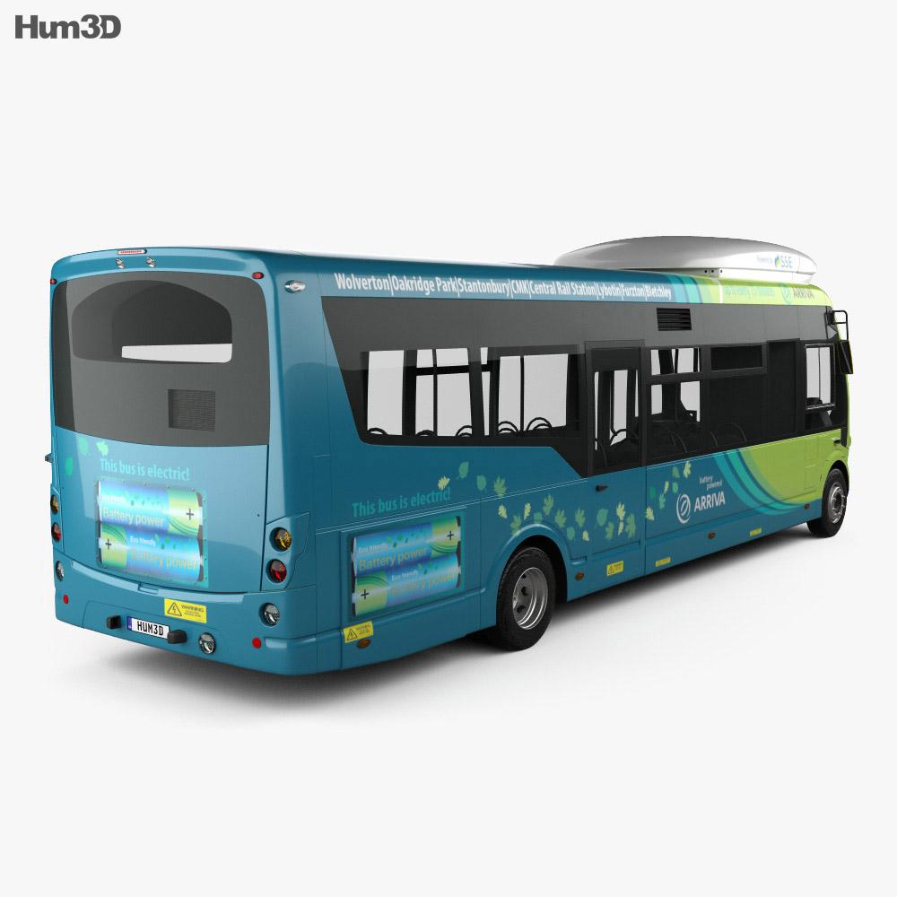 Arriva Milton Keynes Electric Bus 2014 3d model