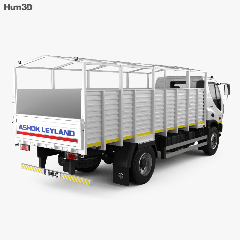Ashok Leyland Boss Tipper Truck 2015 3d model