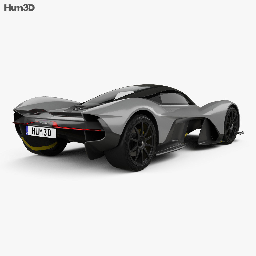 Aston Martin AM-RB 2018 3d model back view