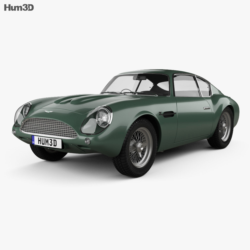 Aston Martin DB4 GT Zagato 1960 3d model