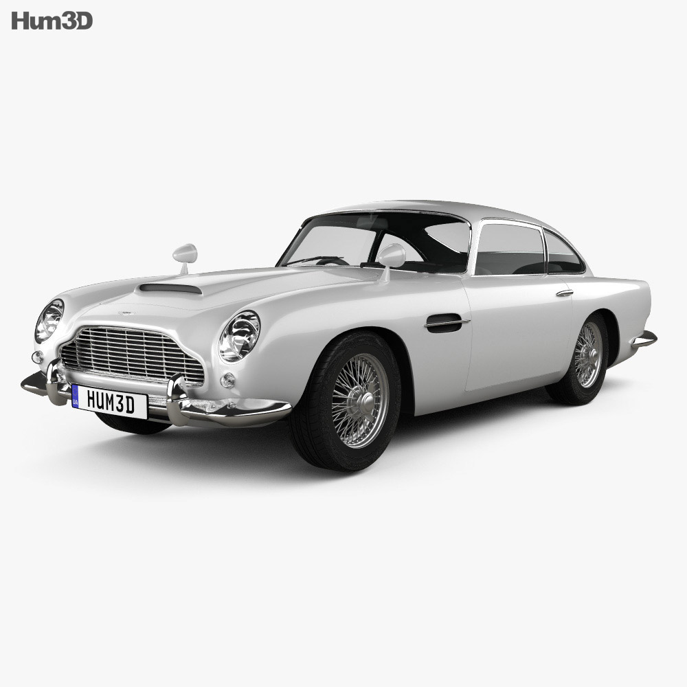 aston martin db5 1963 3d model hum3d. Black Bedroom Furniture Sets. Home Design Ideas