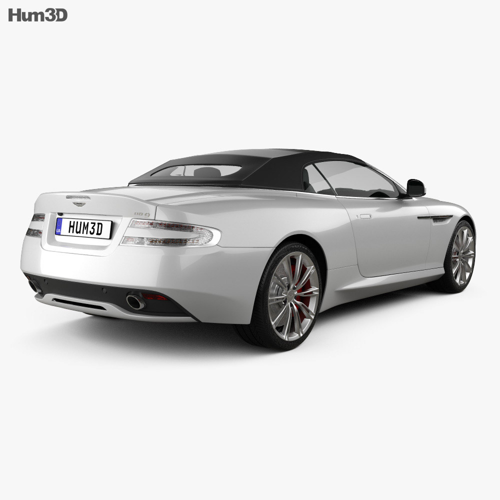 Aston Martin DB9 Volante 2013 3d model