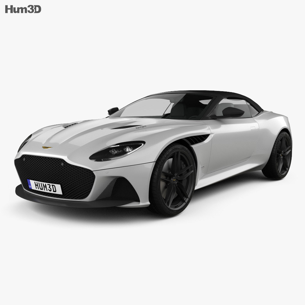 Aston Martin DBS Superleggera Volante 2020 3d model