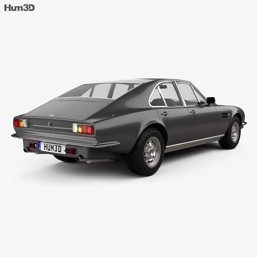 Aston Martin Lagonda V8 saloon 1974 3d model