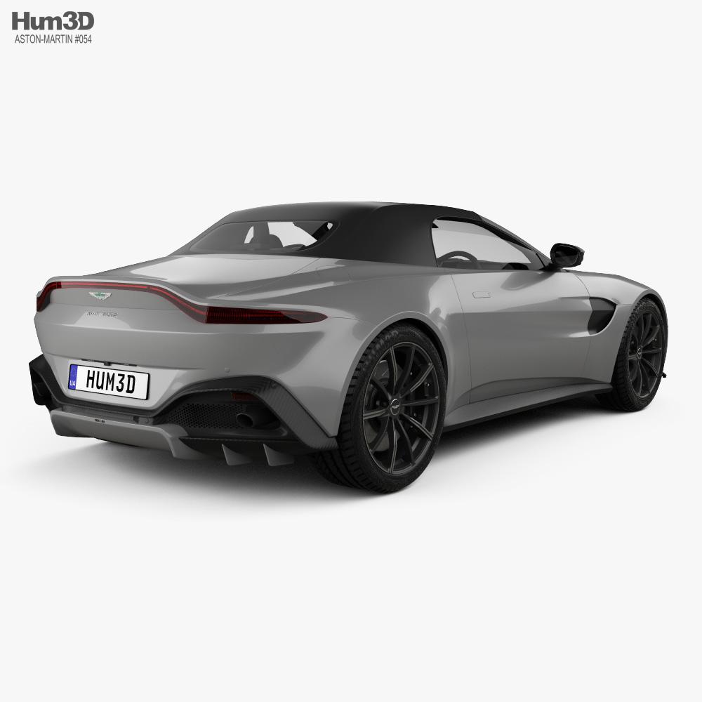 Aston Martin Vantage Roadster 2020 3d model back view