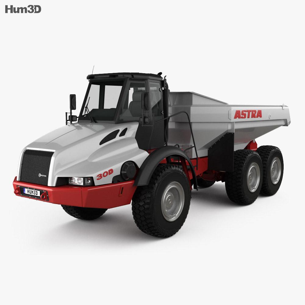 Astra ADT 30D Dump Truck 2000 3d model