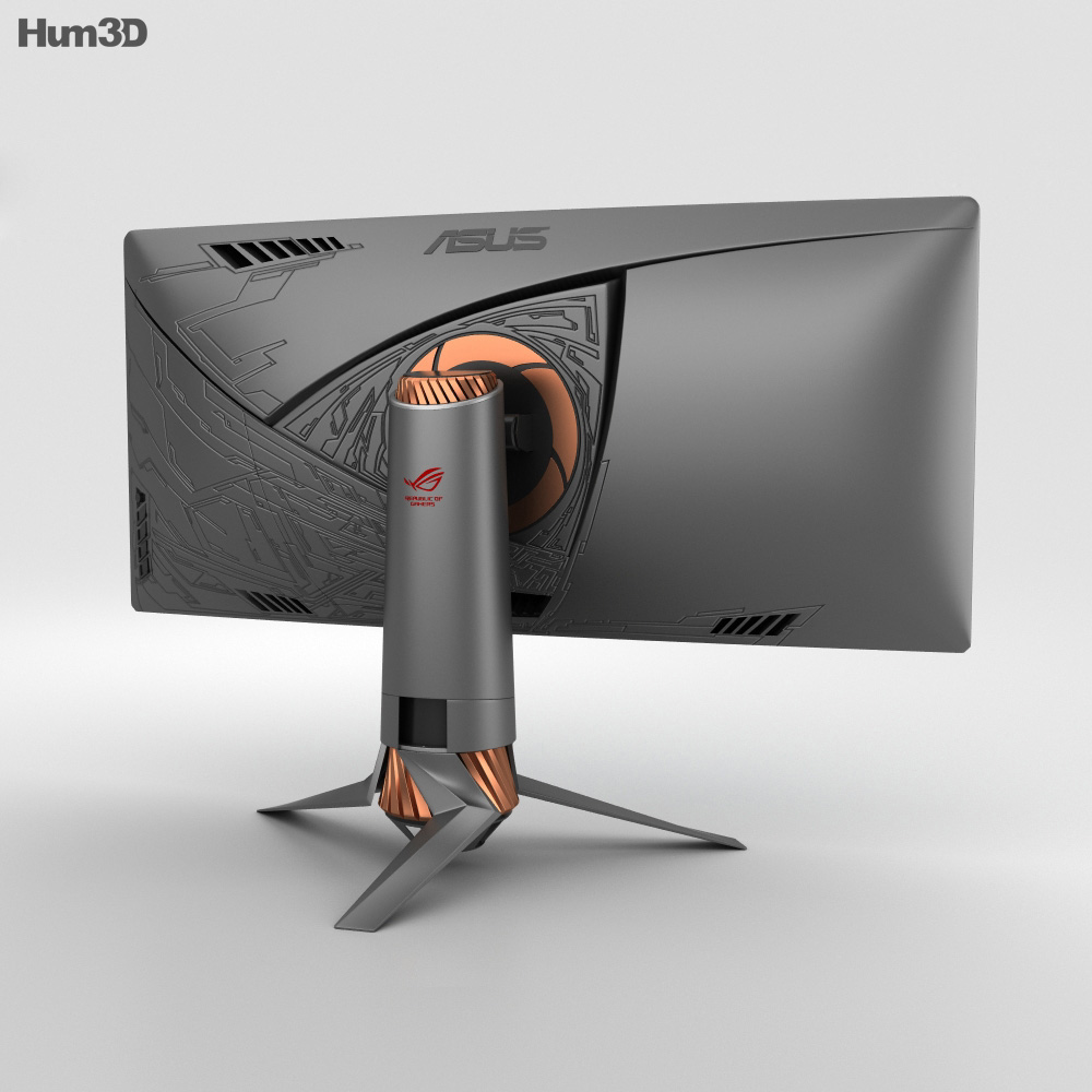 Asus ROG PG348Q Monitor 3d model
