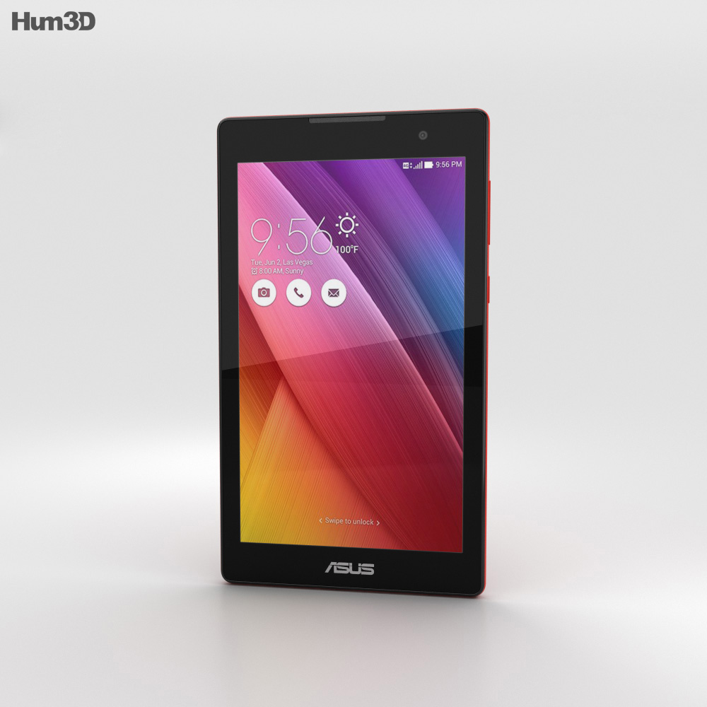 Asus ZenPad C 7.0 Red 3d model