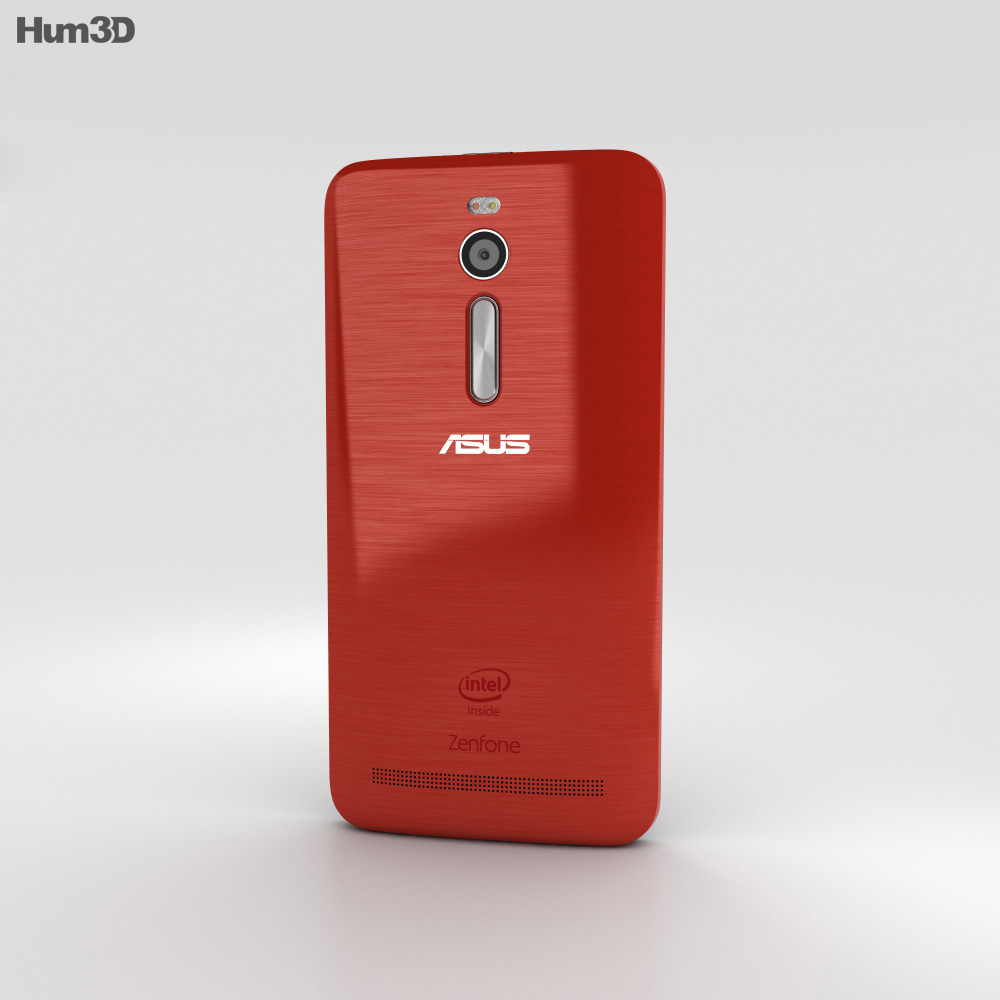 Asus Zenfone 2 Glamor Red 3d model