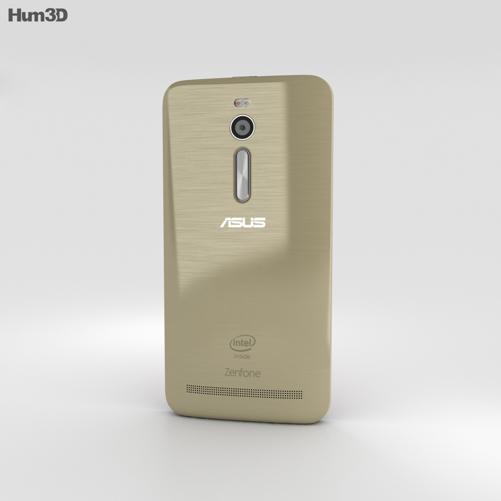 Asus Zenfone 2 Sheer Gold 3d model