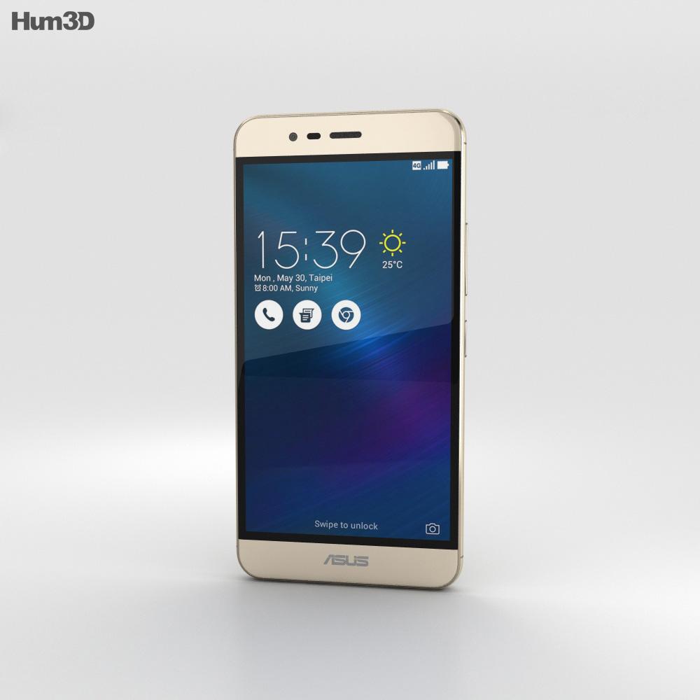 Asus Zenfone 3 Max Sand Gold 3d model