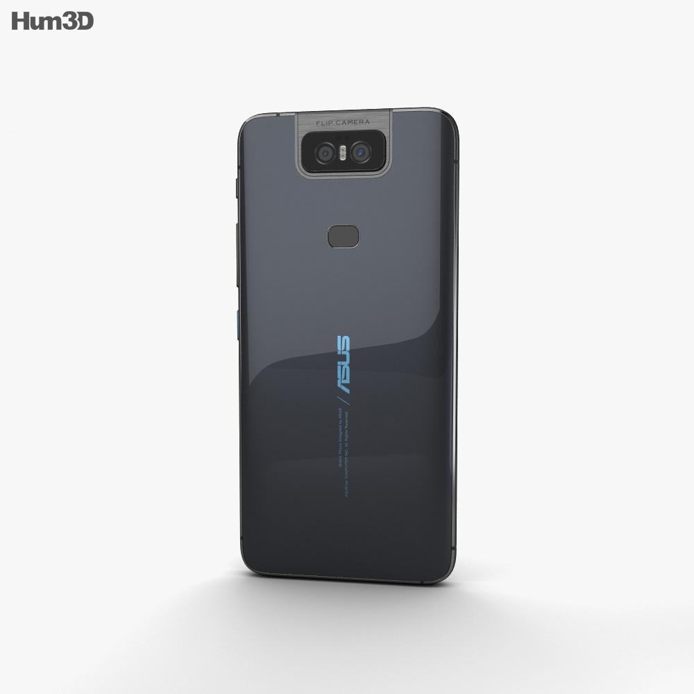 Asus Zenfone 6 (2019) Midnight Black 3d model