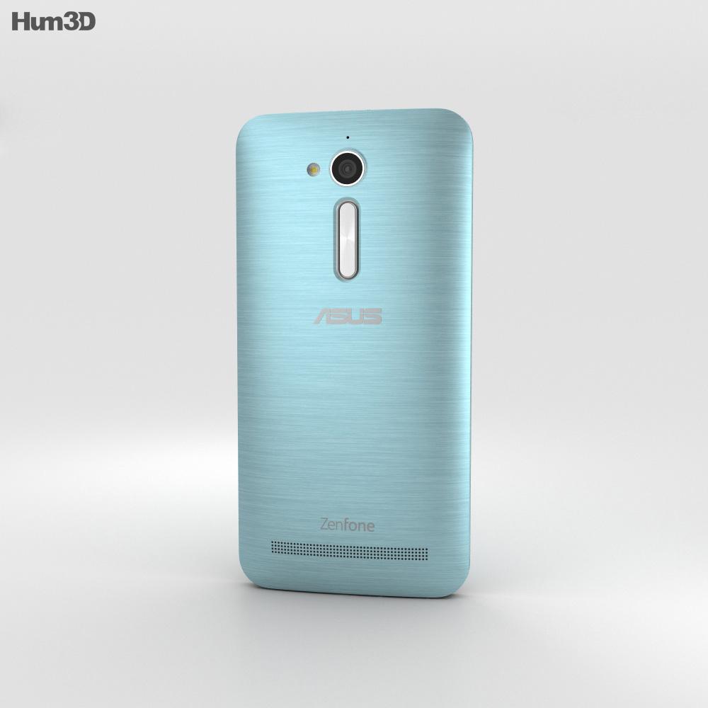 Asus Zenfone Go (ZB500KL) Silver Blue 3d model