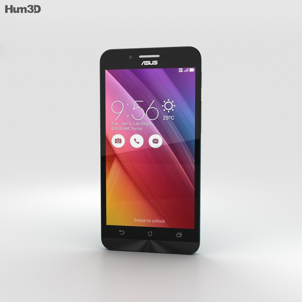 Asus Zenfone Go (ZC451TG) Flash Blue 3d model