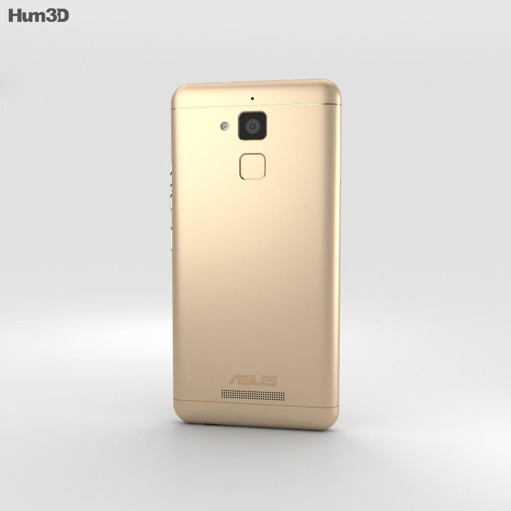 Asus Zenfone Pegasus 3 Gold 3d model