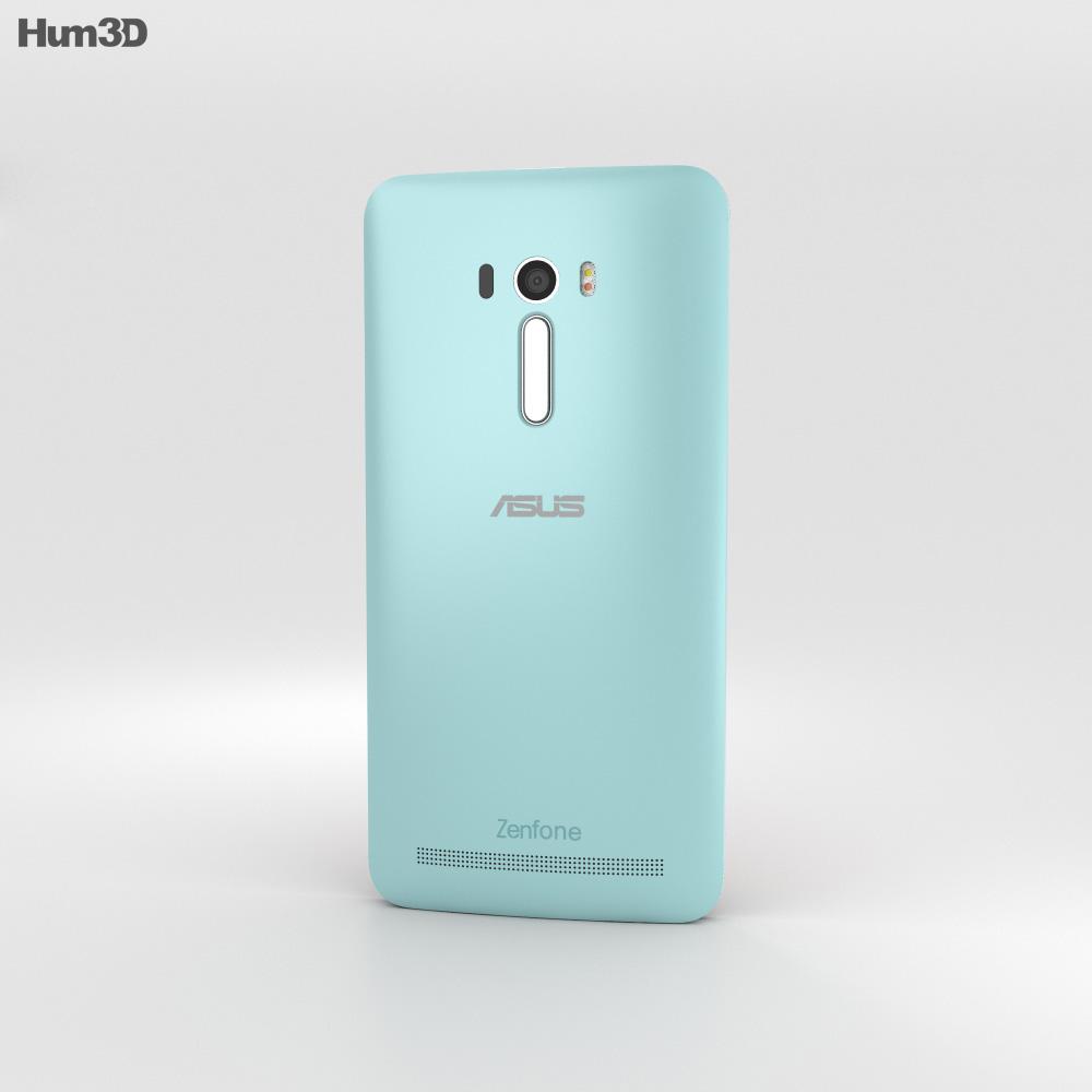 Asus Zenfone Selfie (ZD551KL) Aqua Blue 3d model