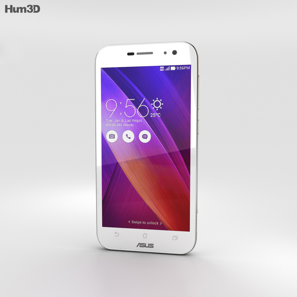 Asus Zenfone Zoom Glacier White 3d model