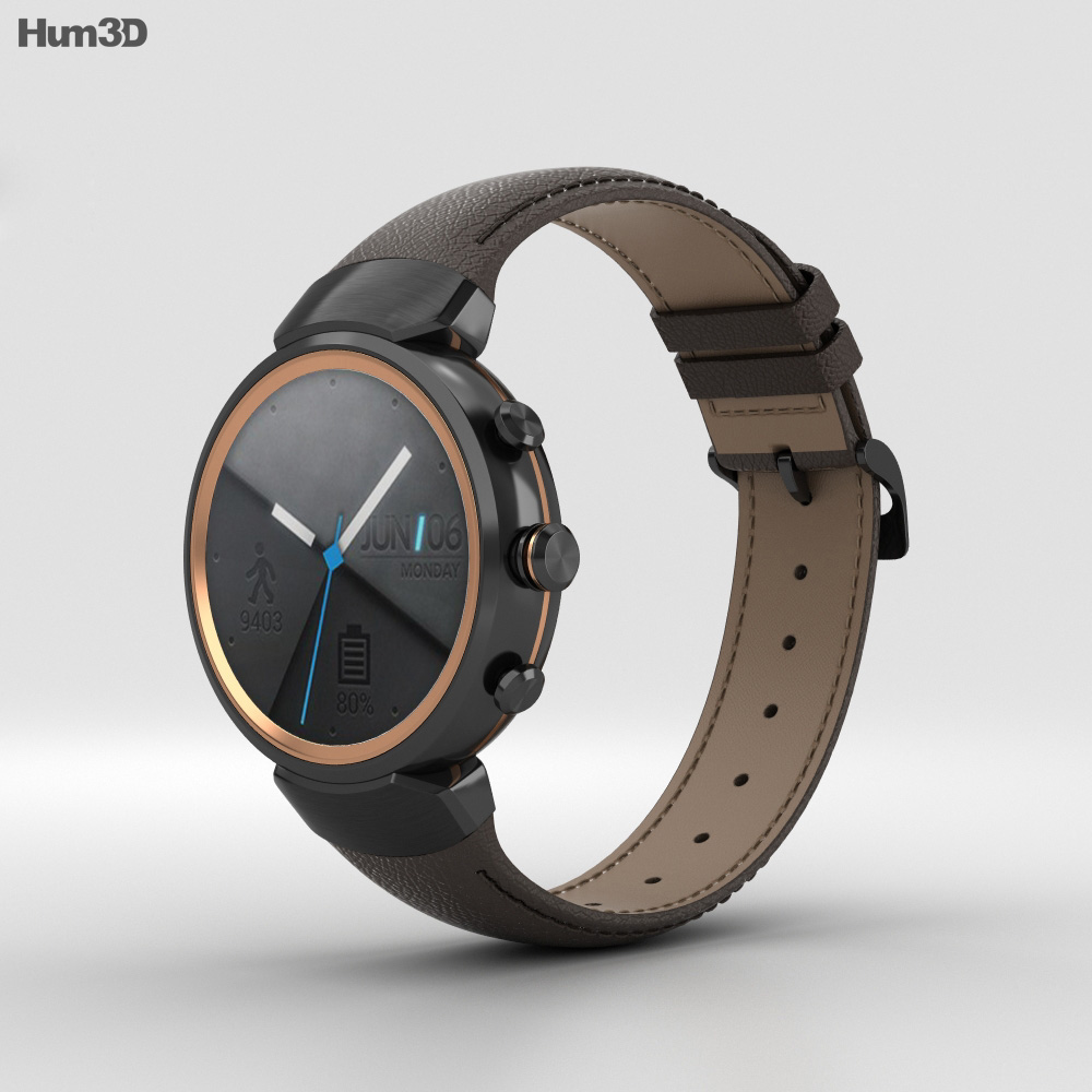 Asus Zenwatch 3 Gunmetal 3d model
