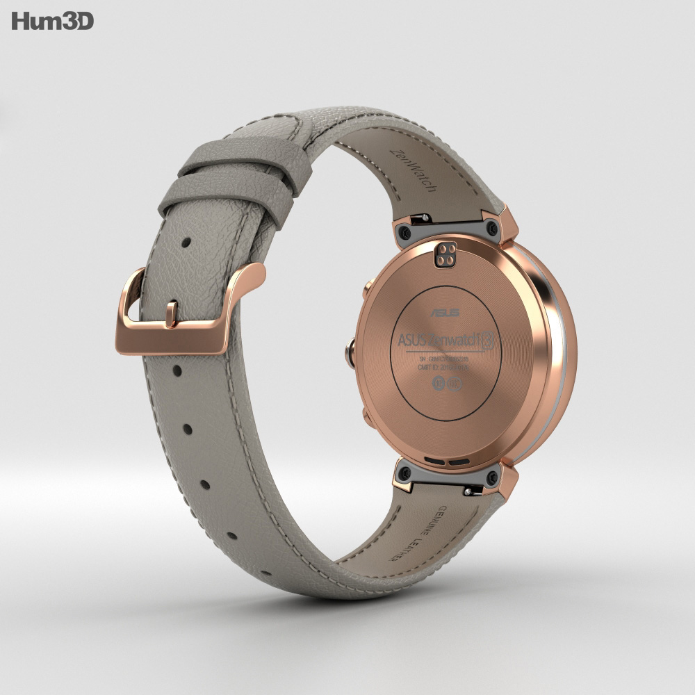 Asus Zenwatch 3 Rose Gold 3d model