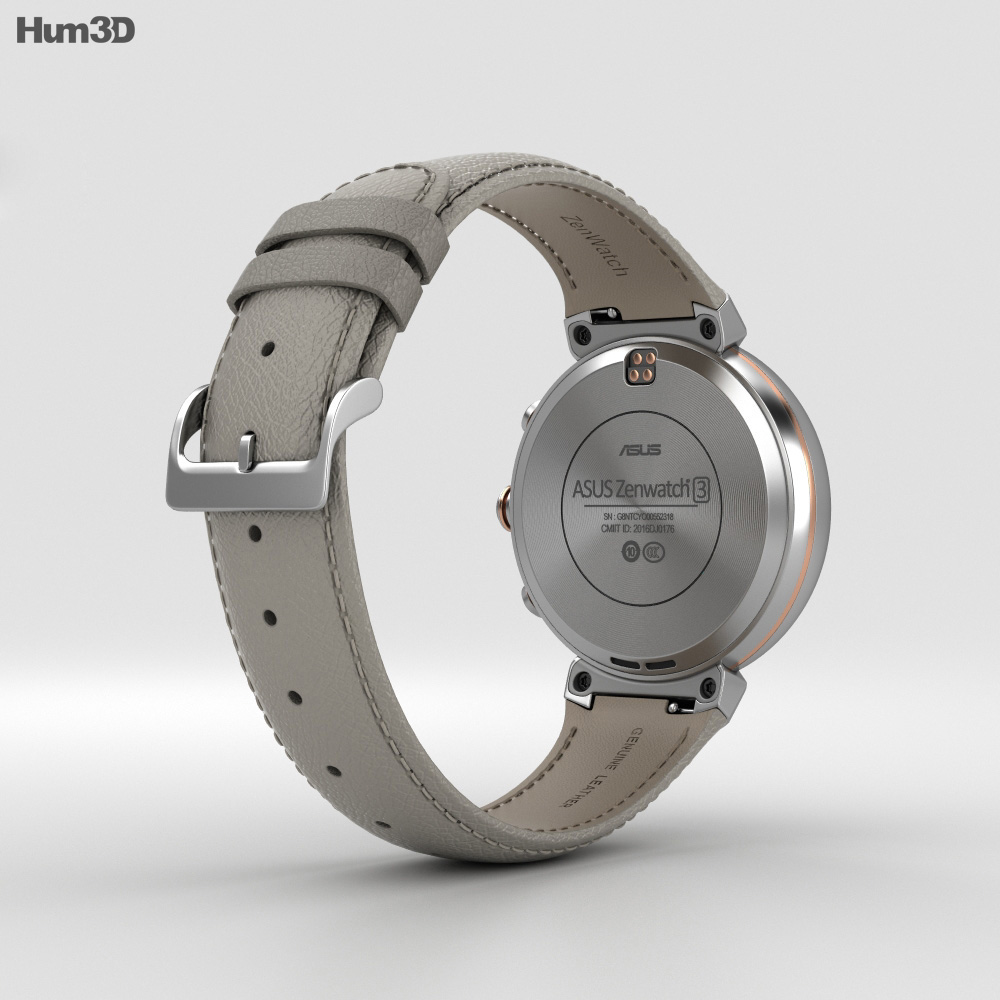 Asus Zenwatch 3 Silver 3d model