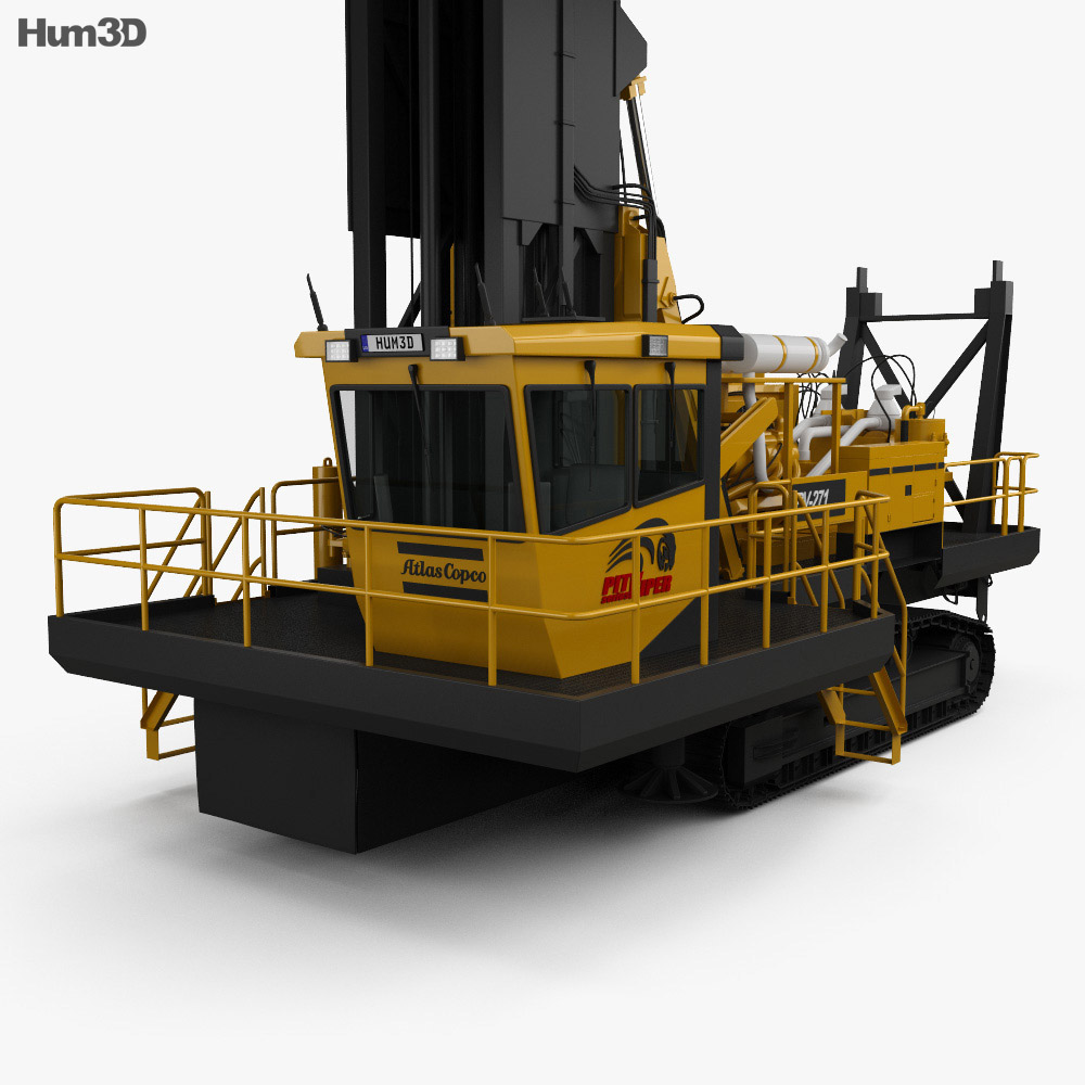 Atlas-Copco PV-271 Drill Rig 2017 3d model