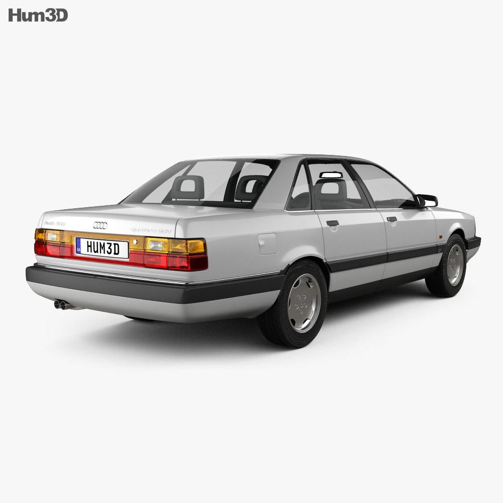 Audi 200 sedan 1983 3d model