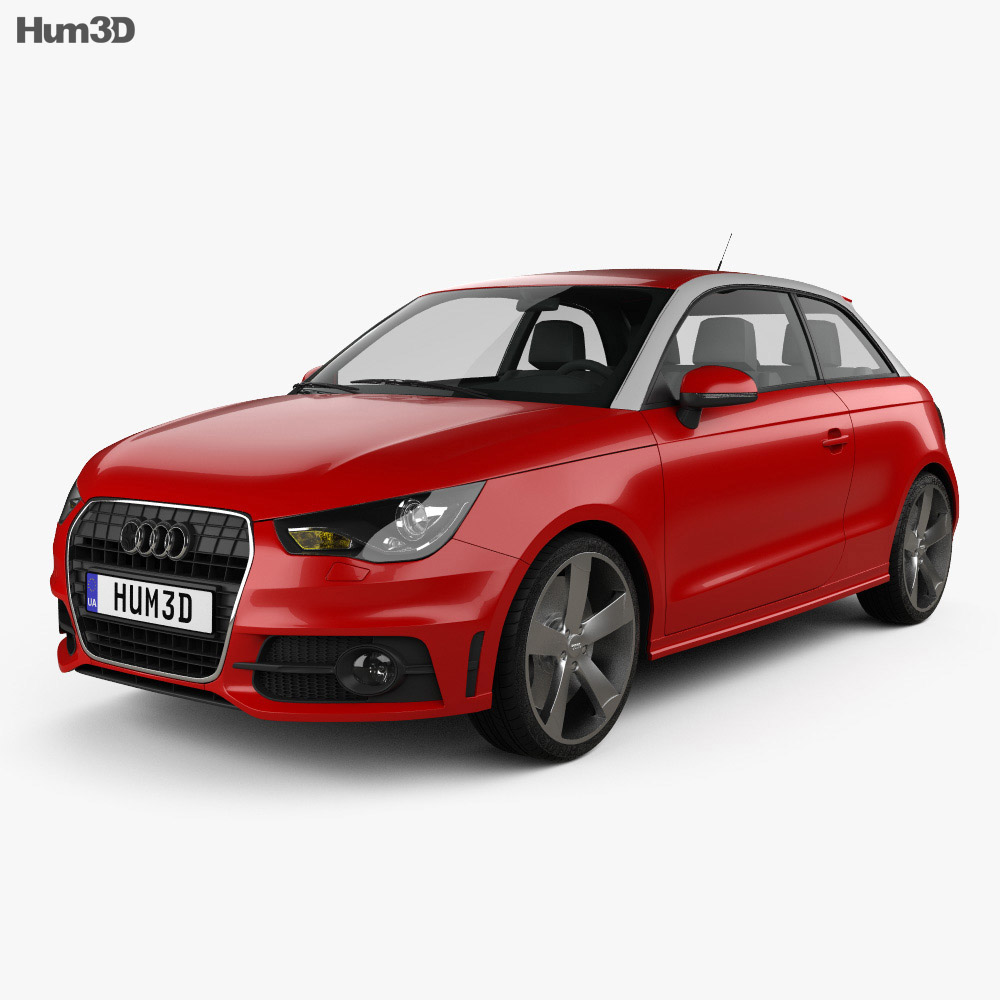 Audi A1 2010 3d model